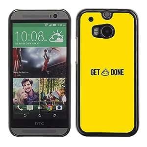 HTC One M8 , Radio-Star - Cáscara Funda Case Caso De Plástico (Get Sht Done - Funny)