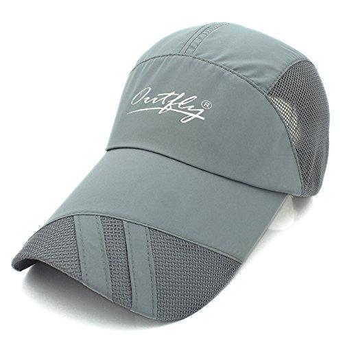 Long Bill Hat - Gracelife Lengthened Brim Cap Unisex Sun Protection Baseball Cap Adjustable Breathable Long Large Bill Cap (Grey)