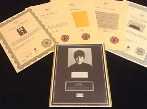 The BEATLES JOHN LENNON Hair Lock w Photo Autograph Certified Signed COA (Pacific Autograph)