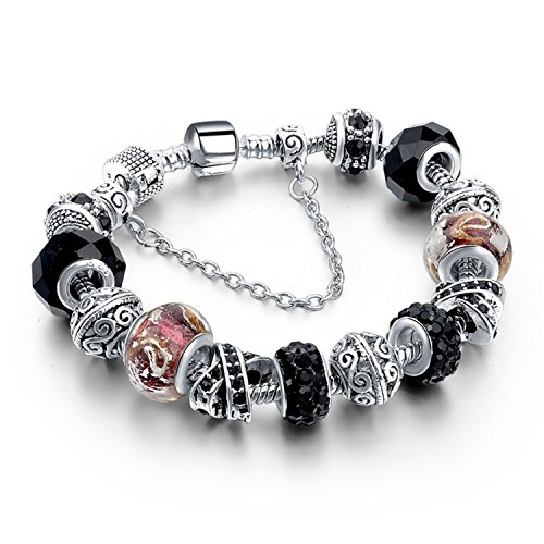 Better Annie Crystal Beads Bracelets Bangles Silver Plated Charm Bracelets For Women Friendship Pulseras Main - Target Annie