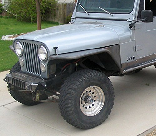 TNT Customs C45F-GWSS Tube Fender Flare (CJ s 4.5 Inch 72-86 Jeep Scrambler CJ) Cj Tube Fenders
