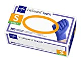 Medline FitGuard Touch Nitrile Exam Gloves, Disposable, Powder-Free, Cobalt Blue, Small, Case of 3000
