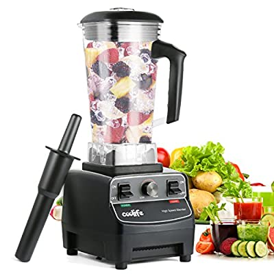 Commercial blender, Coolife professional kitchen blender full nutrition blender for shakes and smoothies(Black)