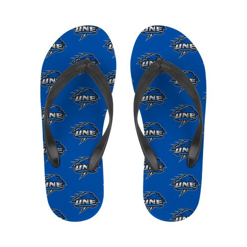 New England Ladies Full Color Flip Flops Primary Mark opmTXHG