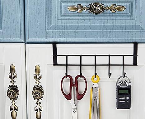 Ruiling sobre la puerta ganchos, 5 Hanger rack Organizador - para oficina en casa, colgador para abrigos, sombreros, toallas, más uso: Amazon.es: Oficina y ...