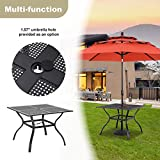MF 5-Piece Metal Patio Outdoor Table and Chairs