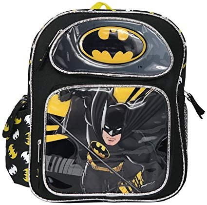 12 inch DC Comics Batman Boys School Backpack Book Bag Kids Children