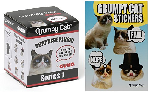 Gund Grumpy Cat Surprise Plush Blind Box Series #1 with Grumpy Cat Stickers book