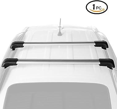 Leader Accessories 53 Universal Roof Rack Crossbars Roof Bag Adjustable Aluminum Cross Bars with Keyed Locking Mechanism Kayak Fits Raised Side Rails for Mounting Cargo Basket