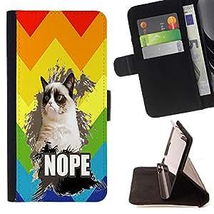 King Case - FOR Sony Xperia Z1 L39 - Lost is the most precious - Prima caja de la PU billetera de cuero con ranuras para tarjetas, efectivo Compartimiento desmontable y correa para la mu?eca