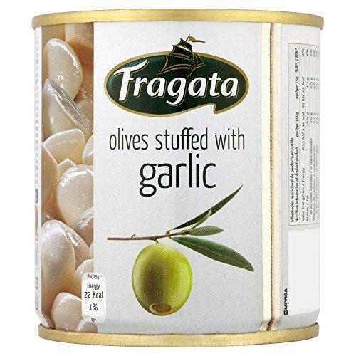 Fragata Spanish Green Olives Stuffed with Garlic (200g) by Fragata