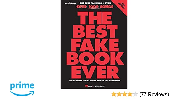Amazon The Best Fake Book Ever For Keyboard Vocal Guitar