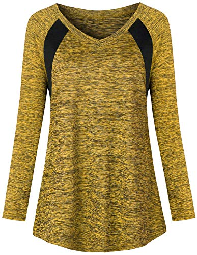 Zugeet Womens Yoga Tops Dry Fit Workout Shirts V Neck Athletic Tee Activewear