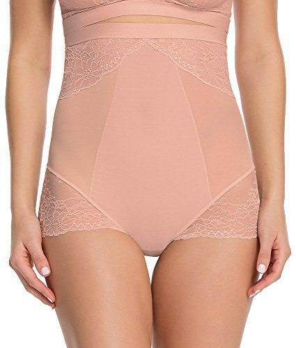 SPANX Plus Size Lace Collection High-Waist Brief, 2X, Vintage Rose
