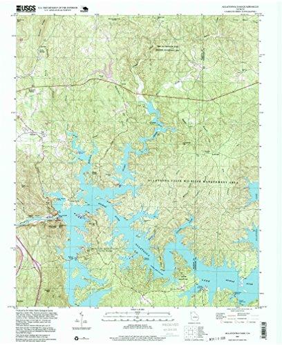 Allatoona Dam GA topo map, 1:24000 scale, 7.5 X 7.5 Minute, Historical, 1997, updated 1999, 26.9 x 22 IN - Paper