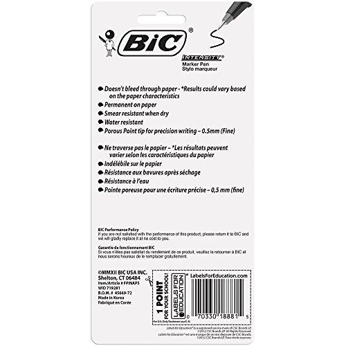 Bic Intensity Marker Pen, Fashion Colors, .5MM, 6PK/BX, AST  (BICFPINAP51AST) Photo #6