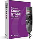 Software : Nuance LFH3500-MAC5 Dragon for Mac Medical Version 5 ( 1 License Retail Box with No Maintenance) with SpeechMike Premium USB Precision Microphone - Push Button Operation