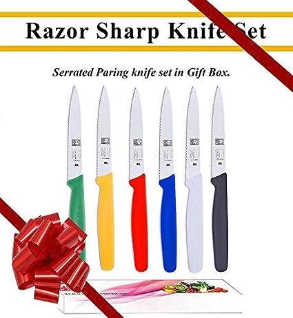 Amazon.com: Juego de cuchillo de sierra para pelar. Ideal ...