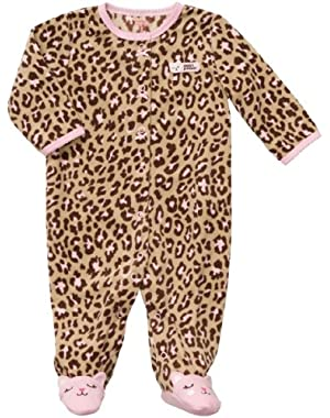 Baby Girl's Micro Fleece Snap