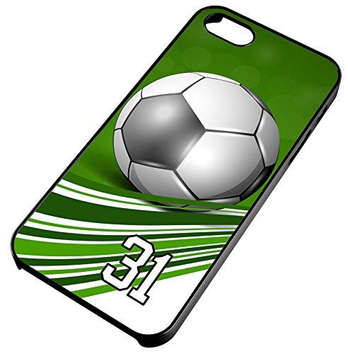 one 4s 4 Soccer Ball Green Swirl Stripes Any Custom Jersey Number 31 Black Plastic (Swirl Soccer Goalie Jersey)