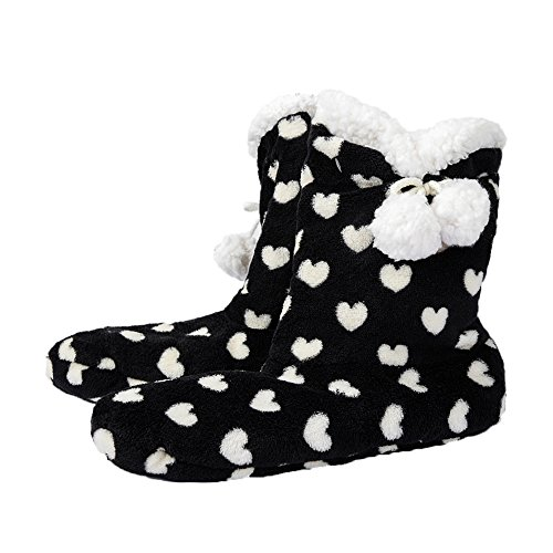 FRALOSHA Thick Plush Warm Indoor Boots Floor Shoes Shoes Non-Slip Soft Home Shoes Boots and The Same Bathrobe Series