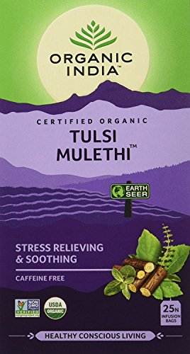 Pack of 2 - Organic India Tulsi Mulethi - 18 Tea Bags by Organic IndiaOrganic India
