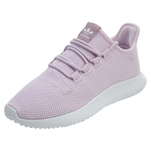 Stripe Girls Shadow Mesh (adidas Originals Girls' Tubular Shadow J, Aero Pink/White/White, 6 M US Big Kid)