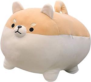 "Rose Auroma 16"" Shiba Inu Plush Corgi Plush Stuffed Animal Kawaii Plush Soft Pillow Doll Dog, Dog Plush Toy Gifts for Family, Friends, Kids (Brown)"