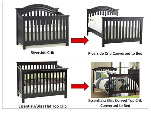 Solid Wood Baby Cache Crib Full Size Conversion Kit Bed