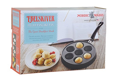 Ebelskiver Filled Pancake Pan The Great Breakfast Book by Nordic Ware