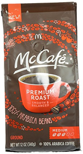McCafe Coffee Premium Roasted Ground Coffee, Medium Roast, 12 Ounce