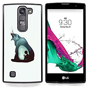 - Evil Bear & Boy - Abstract Painting - - Cubierta del caso de impacto con el patr??n Art Designs FOR LG Volt 2 / LG G4 Mini (G4c) Queen Pattern