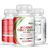 Cheap Premium Natural Horny Goat Weed with Maca Root Tongket Ali Root Herbal Powder/L Arginine/Ginseng for Men and Women1000mg 60 Capsules Pills