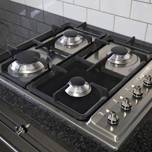 Gas Range Protectors Stove Burner Covers Gas Hob Liner FDA Approved Non-stick Stovetop Protector Liner Cover Reusable Dishwasher Safe Fast Clean Stovetop Burner Liners, 10.63''x10.63'', 8 Packs