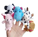 XUANOU 25Set 10PC/set Story Finger Puppets 10 Animals Cute Dolls Interactive Educational Toy
