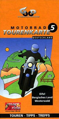 Motorradtourenkarte, Nordrhein-Westfalen: Eifel/Bergisches Land/Westerwald