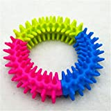 Corner Biz Pet Dog Chew Toy Mixed Color Rubber Circle Cleaning Teeth Doggy Supplies