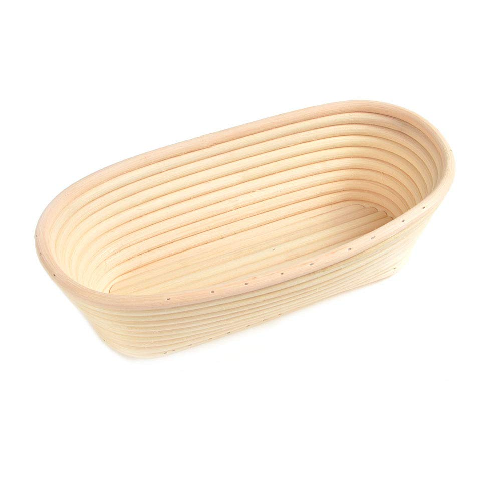 1x Oval Bread Proving Basket Rattan Banneton Brotform , Size 28x15x8cm ,hold 750g dough ,Sour Dough proofing, Artisan bread ifsecond