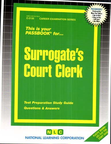Surrogate's Court Clerk(Passbooks)
