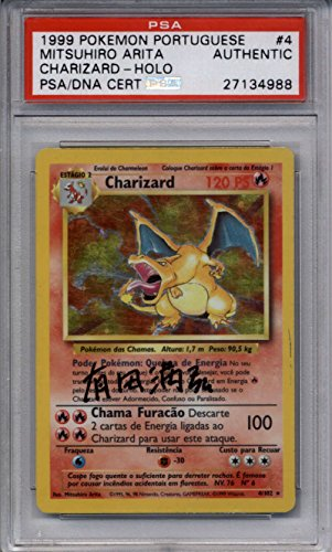 Charizard PSA/DNA AUTOGRAPH #4/102 signed by Mitsuhiro Arita Holo Foil Base Set Kanji Japanese Auto Photo - Pokemon Gaming