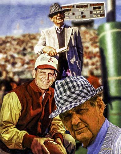 Paul Bear Bryant Alabama Crimson Tide Head Coach NCAA Football Art Print 11x14-24x30 (Alabama Crimson Tide Photograph)