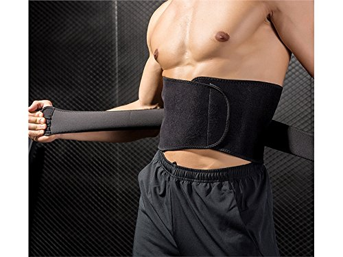 Huasen Sports Safe Guard Waist Trimmer Sweat Belts Adjustable Slimming Belt for Women and Men_Black Cycling Sports by Huasen (Image #5)