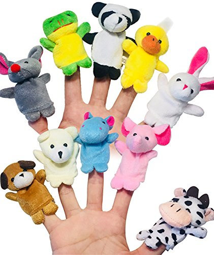 (ENTOY Small Finger Puppets for Toddlers 10 Sets Cute Plush Animal Finger Puppets for Children Kids)