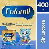 Fórmula para Lactantes con Necesidades Especiales de Nutrición de 0 a 12 meses, Enfamil Premium Sin Lactosa, Lata de 400 gramos
