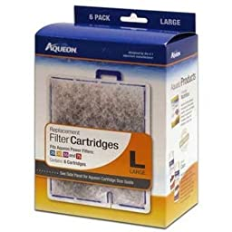 AQUEON FILTER CARTRIDGE LARGE. FOR QUIET FLOW 20.30.50,55 & 75 FILTERS. 6 Pack