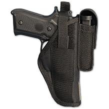 Barsony Gun OWB Belt Holster w/Magazine Pouch for Full Size 9mm 40 45 Pistols