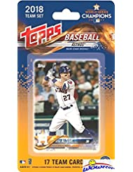Houston Astros 2018 Topps Baseball EXCLUSIVE Special Limited Edition 17 Card Complete Team Set of MLB WORLD SERIES CHAMPIONS! Includes Jose Altuve, Carlos Correa, Justin Verlander & Many More! WOWZZER