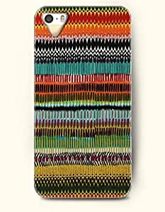 OOFIT Aztec Indian Chevron Zigzag Pattern Hard Case for Apple iPhone 4 4S ( Multi-Colored Ethic Tribal Pattern )