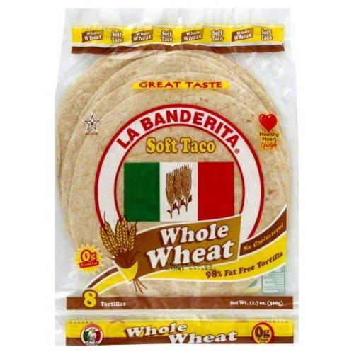 Flour Tortillas Free Fat - LA BANDERITA TORTILLA WHLWHT 8PC-12.7 OZ -Pack of 12