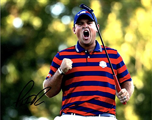 (PATRICK REED AUTOGRAPHED Hand SIGNED RYDER CUP PHOTO w/COA)